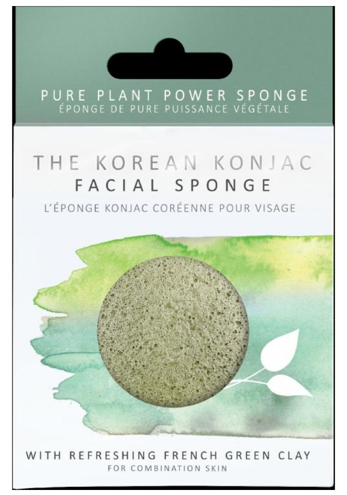 The Konjac Sponge Konjak houba se zeleným jílem