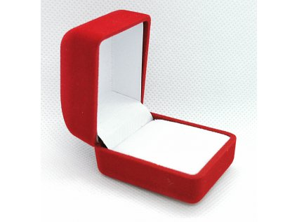 Sametová krabička červená
