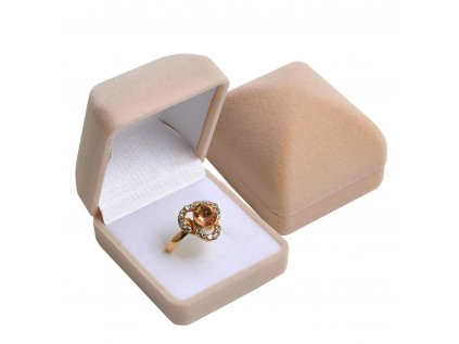 bezova semisova darkova krabicka na prsten 088509 or