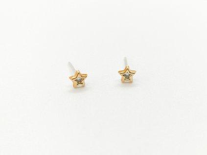 Akrylové náušnice hvězdičky