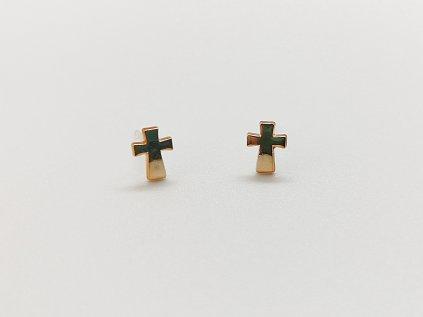 Akrylové náušnice kříže