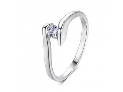 Kroucený prsten stříbrný
