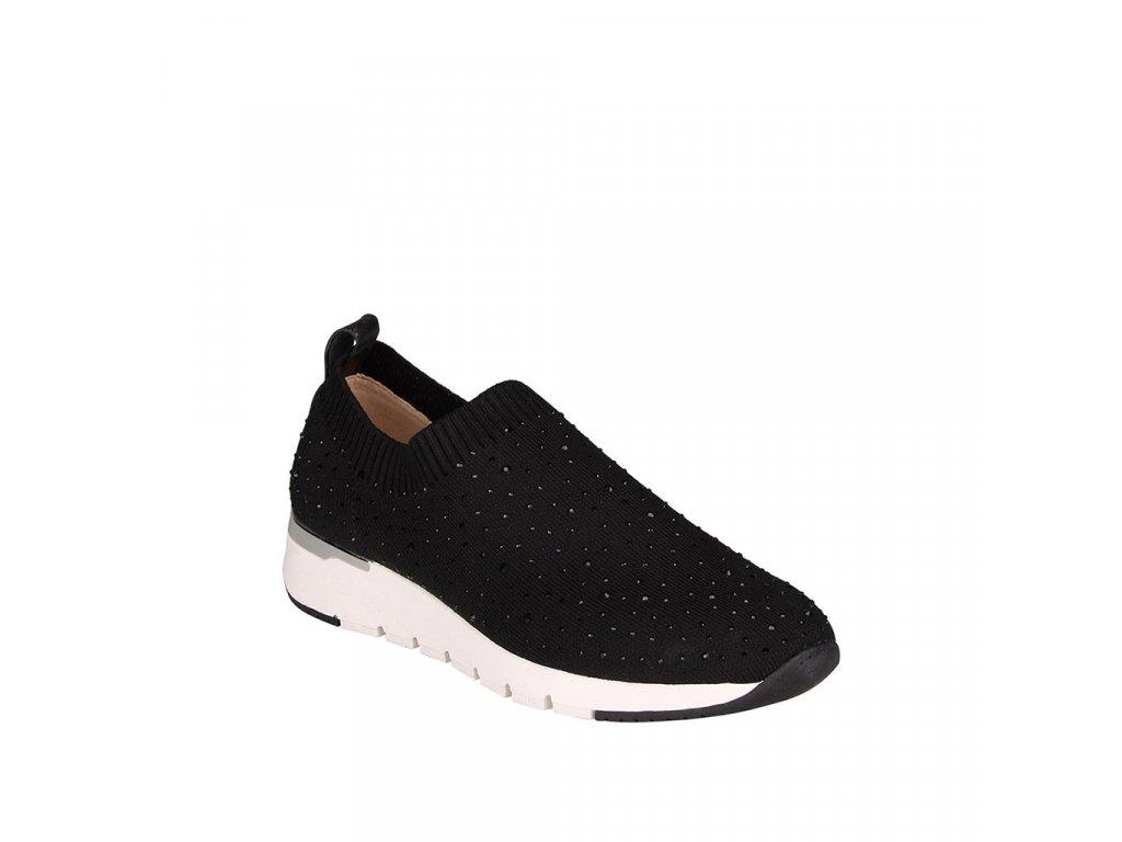 Dámské textilní tenisky CAPRICE v černé barvě