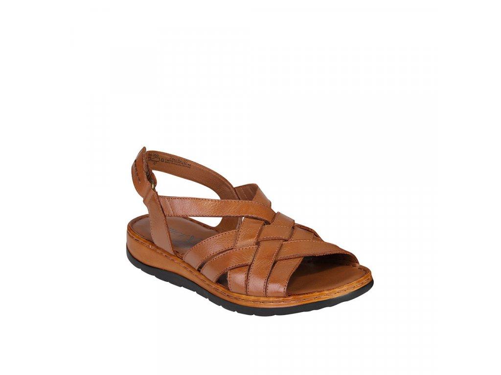 Dámské kožené sandály CAPRICE proplétané