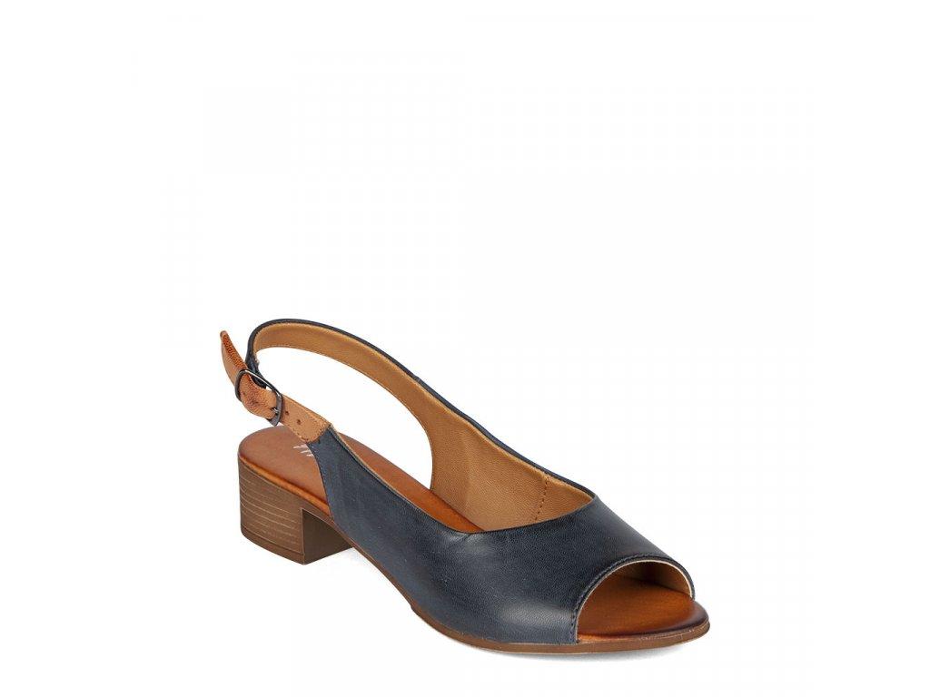 Dámské jednoduché kožené sandály RIZZOLI šíře H
