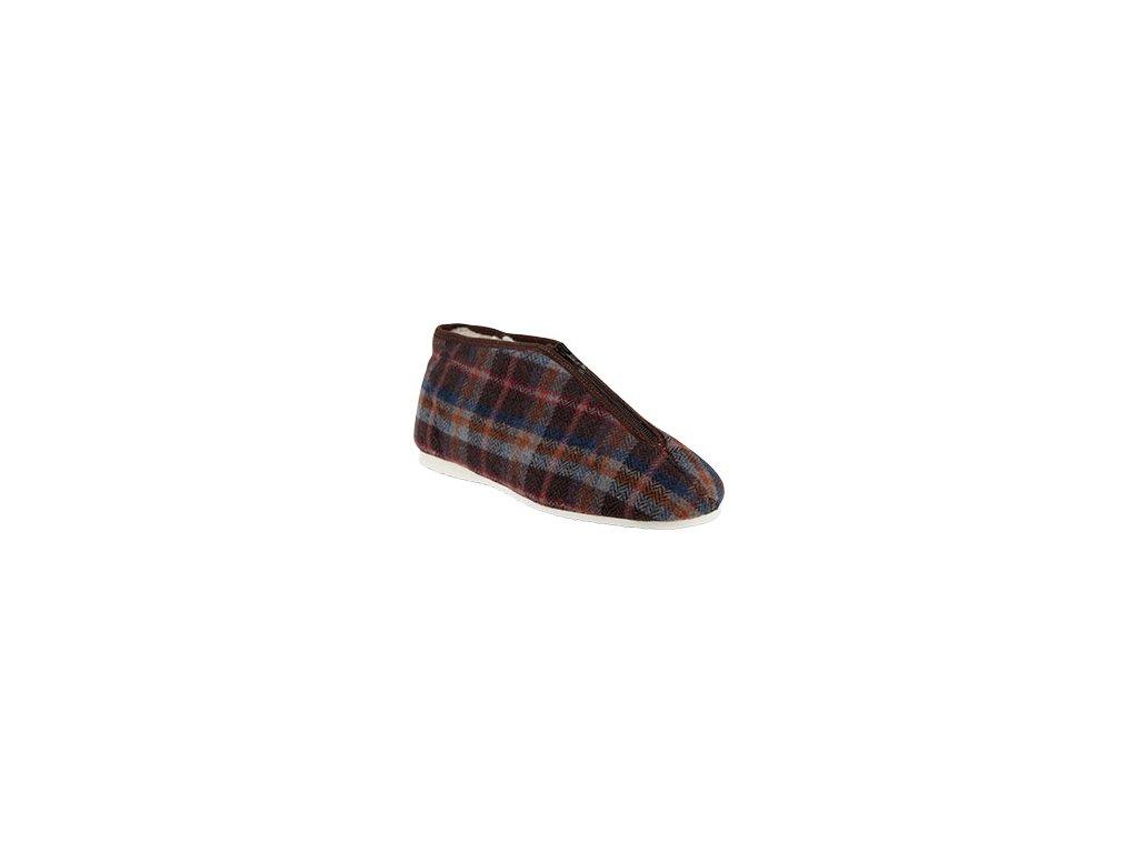 Pánské pantofle textilní bačkora