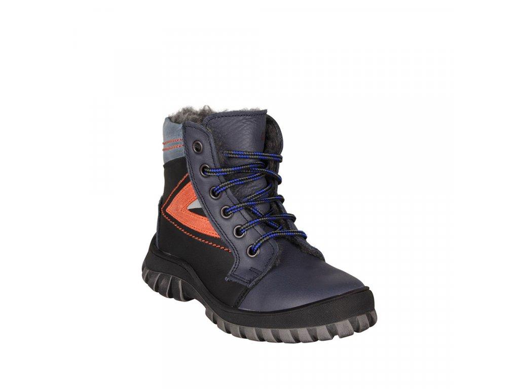 Dětská zimní obuv kožená s kožíškem ESSI vel. 27 - 30