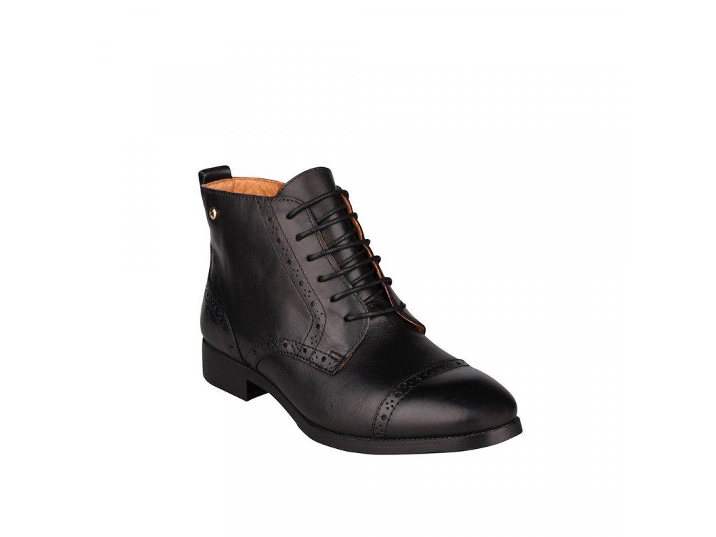 Dámská kotníková obuv v tmavě hnědé barvě PIKOLINOS