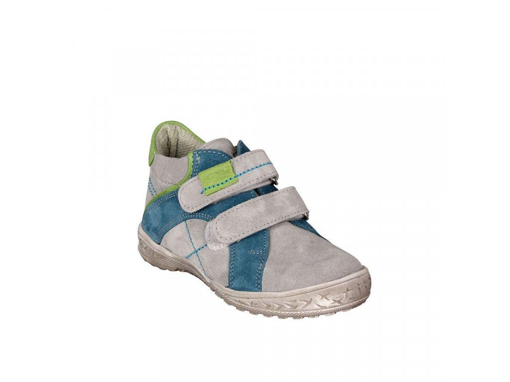 Dětské kožené kotníky pro celoroční nošen ESSI šedé