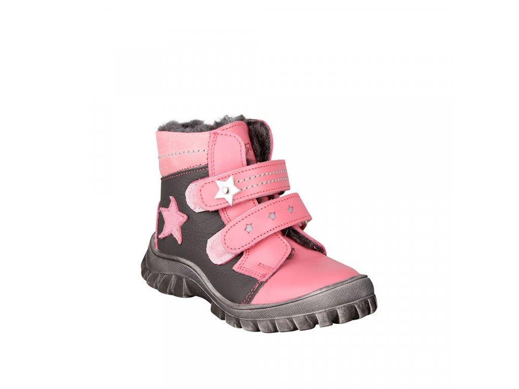 Dívčí kožená zimní obuv na suché zipy ESSI vel. 23 - 26