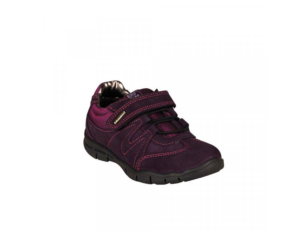 Dětská vycházková kožená obuv na suchý zip vel. 28-30
