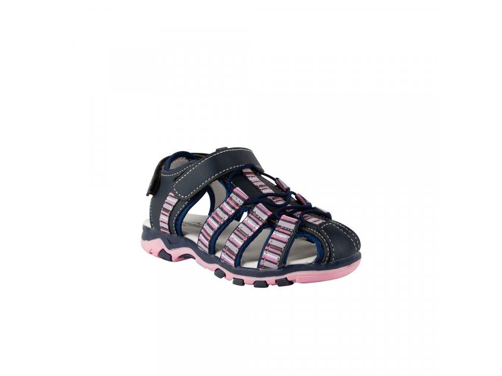 Dětský kožený uzavřený sandál v modré barvě vel. 31-35