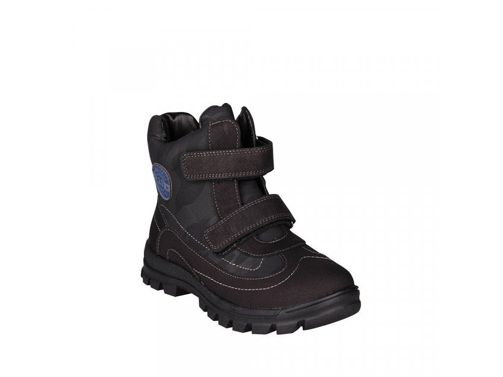 Dětská kotníková chlapecká obuv na suchý zip v černé barvě vel. 31-36