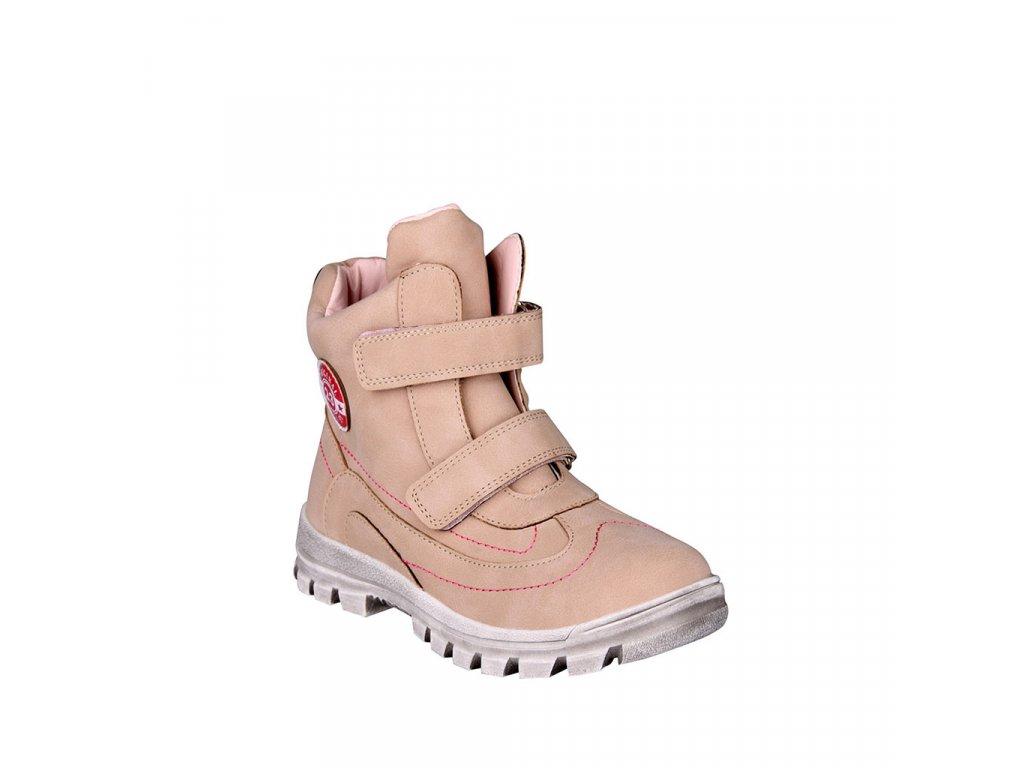 Dětská kotníková dívčí obuv zateplená na suchý zip vel. 31-36