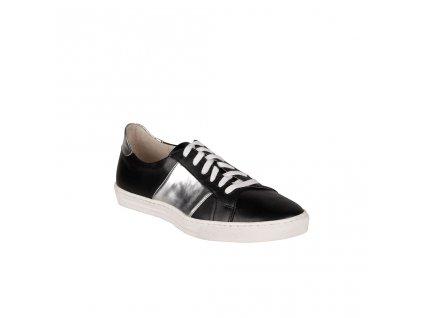 Dámské kožené tenisky černo-stříbrné STIVAL