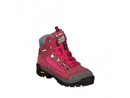 Dívčí treková kotníková obuv OLANG  v růžové barvě