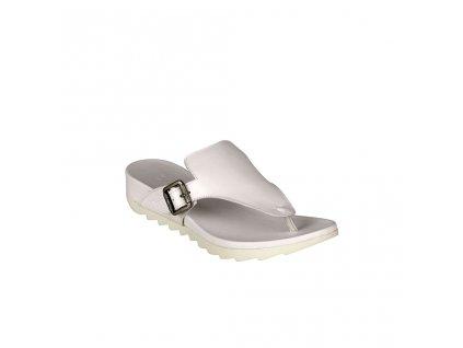 Dámské bílé sportovní pantofle mezi prsty BUENO