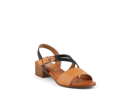 Dámské kožené sandály s nártovým páskem ARIANNA