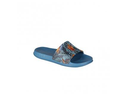 Pánské nazouváky s tropickým motivem COQUI Tora Niagara blue