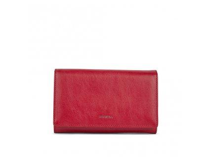Dámská kožená peněženka červená PATRIZIA