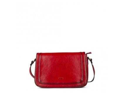 Dámská kožená kabelka přes rameno KATANA - červená