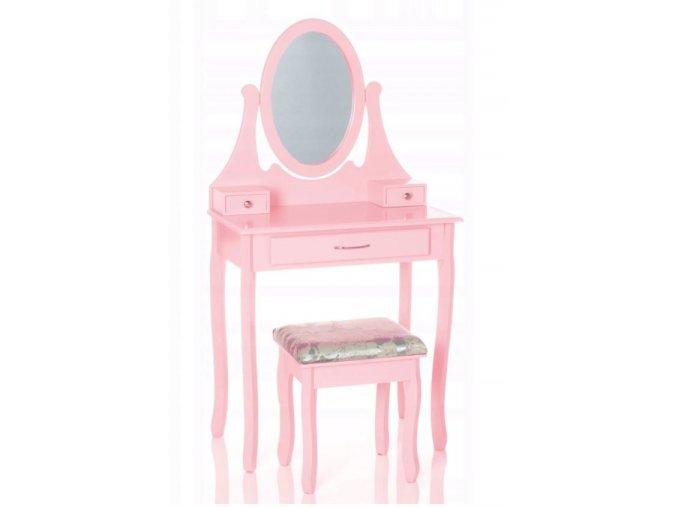 Toaletní Stolek - Terezka v růžové barvě