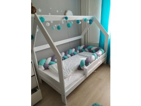 Výprodej: Domečková postel z masívu  Doprava zdarma - zaváděcí cena
