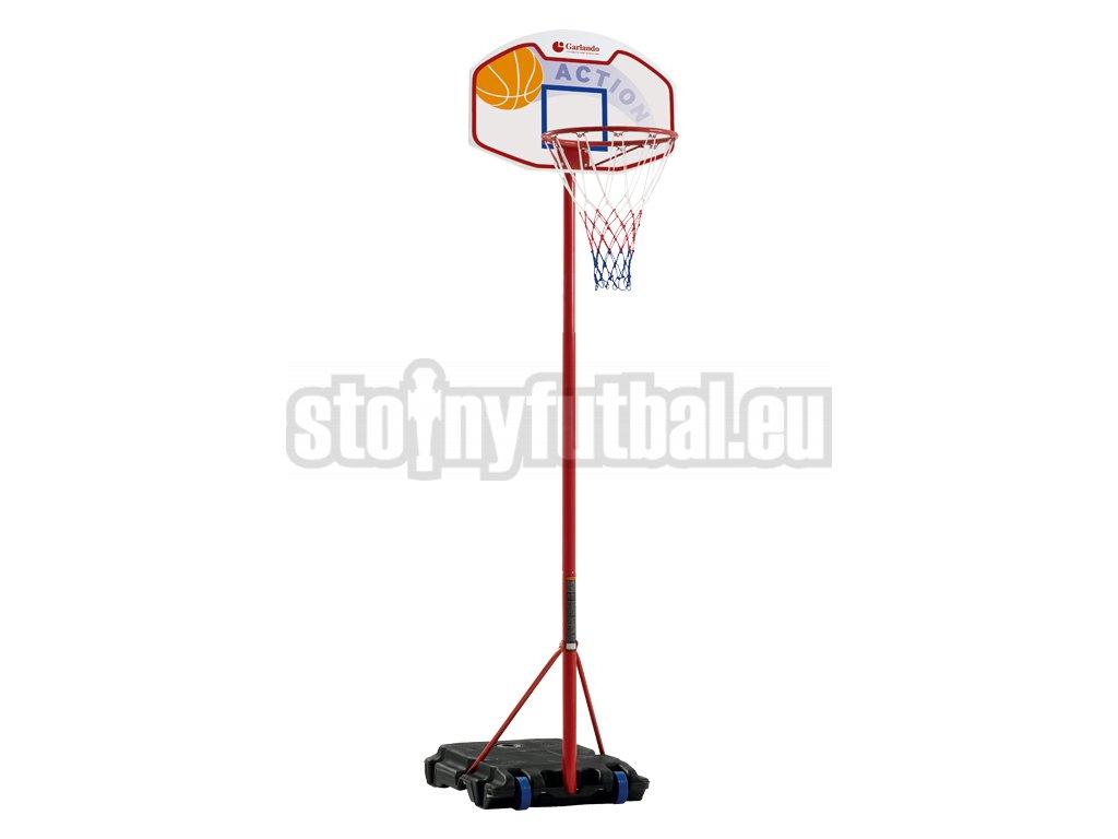 Koš basketbalový Garlando EL PASO se stojanem, výška 160-210cm