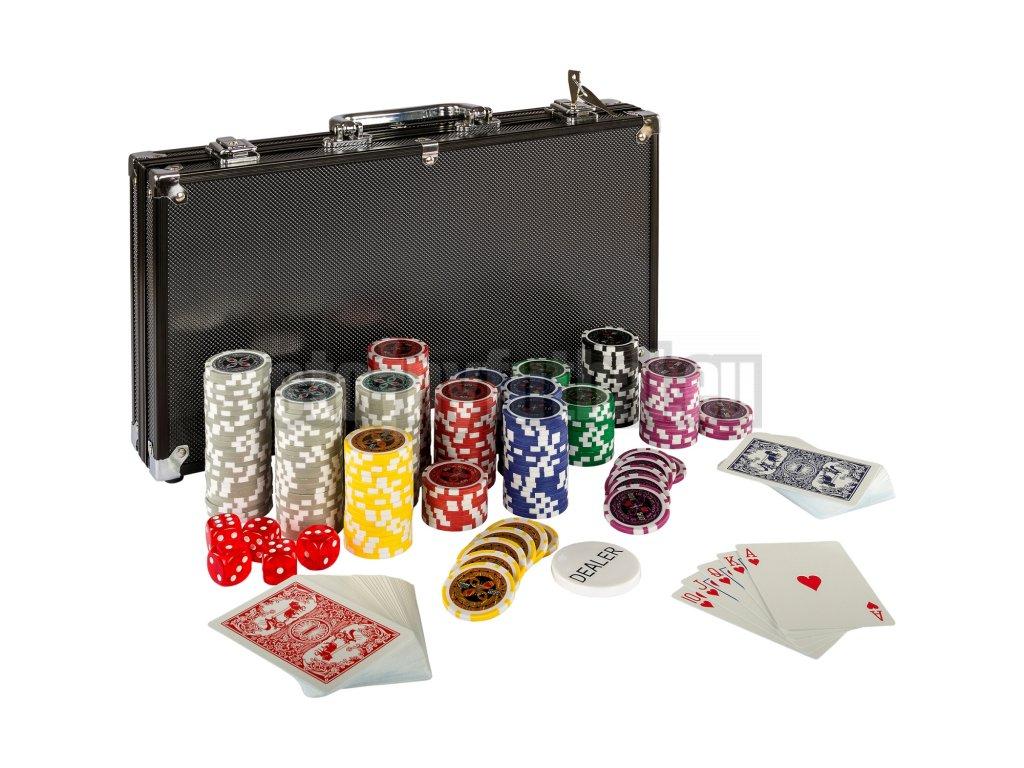 Poker Set - 300 laserových žetónov BLACK EDITION
