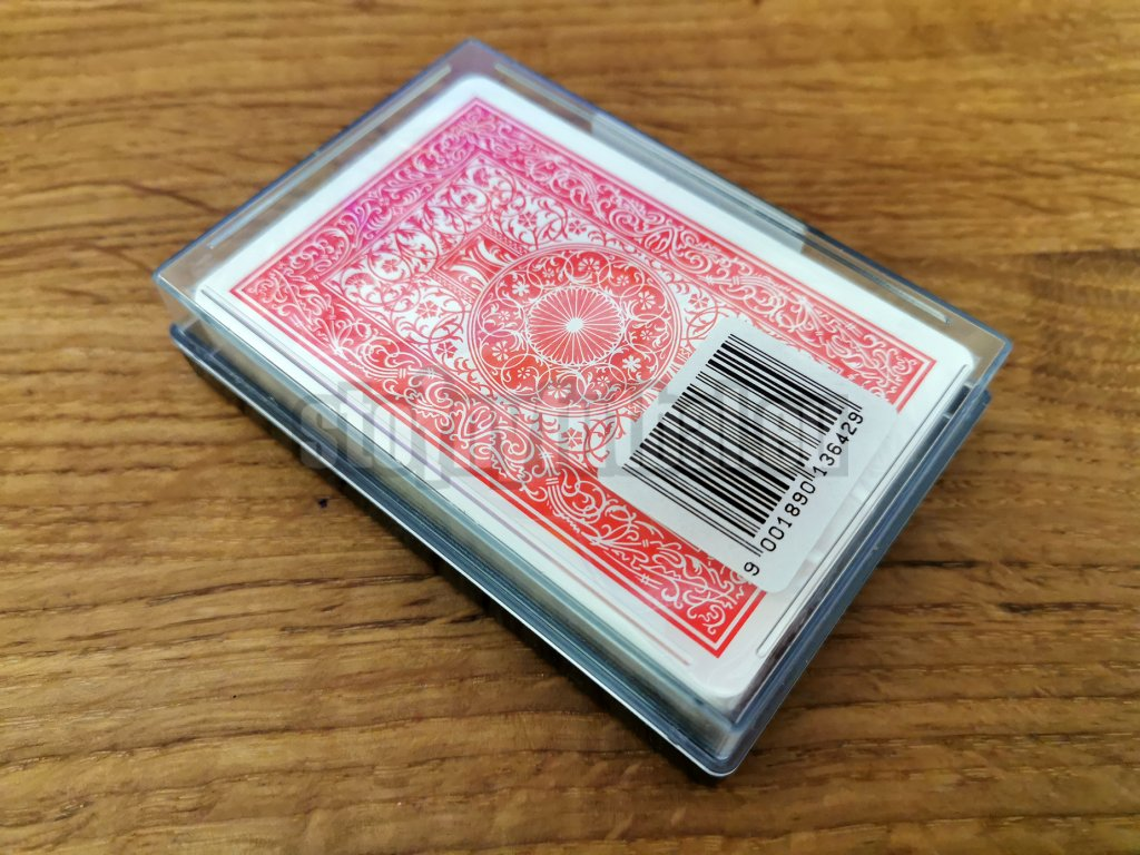 Plastové karty PIATNIK Poker, Bridž 100% PLASTIC červený index