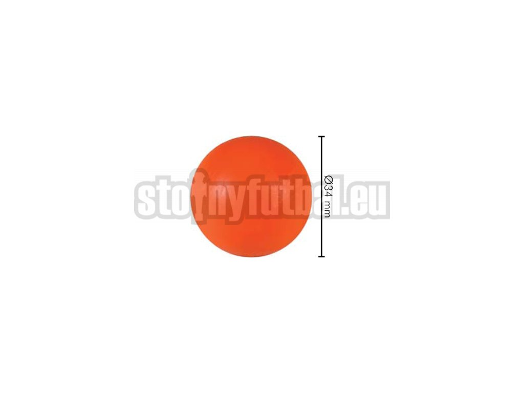 Lopta pre stolný futbal oranžová