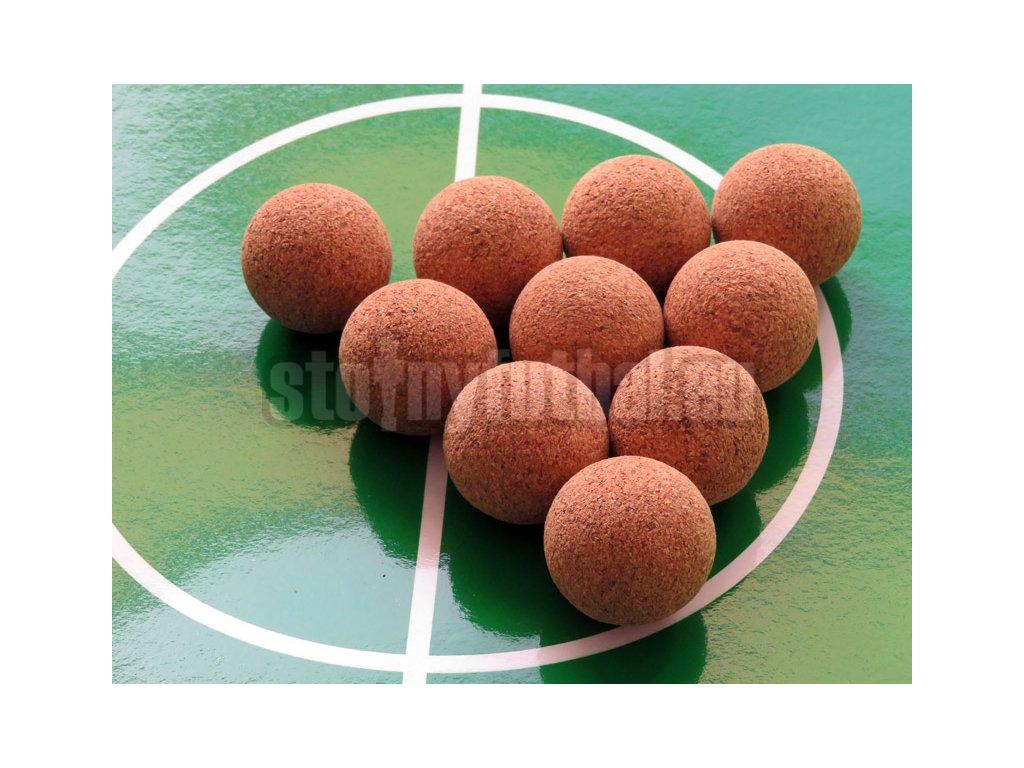 Loptičky na stolný futbal korok 10 ks 35 mm