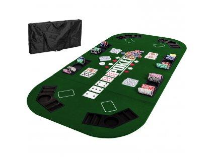 Skladacia pokerová podložka zelená