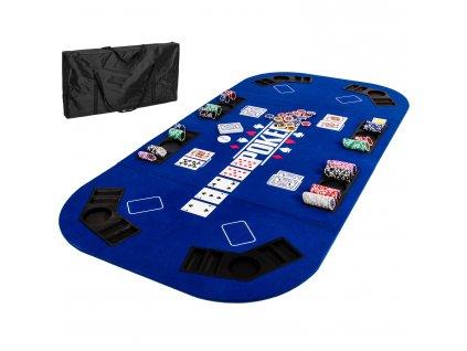 Skladacia pokerová podložka modrá