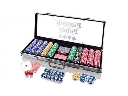 Piatnik Poker Set - 500 ks vysoce lesklých poker žetonů