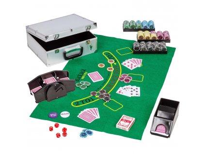 Ultimate pokerset Casino 300 + darček miešačka kariet