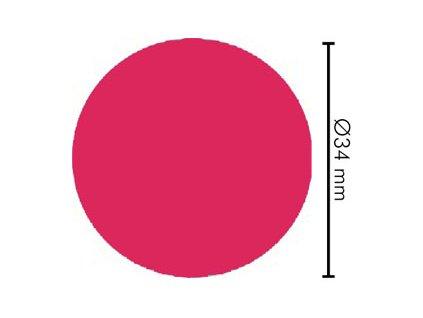 Lopta pre stolný futbal ružová