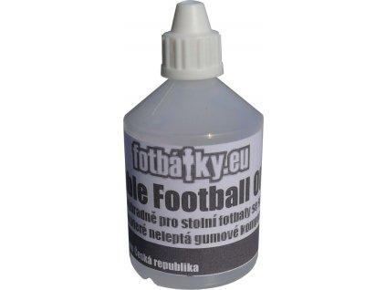 Olej pre mazanie tyčí stolného futbalu s gumovými dorazmi