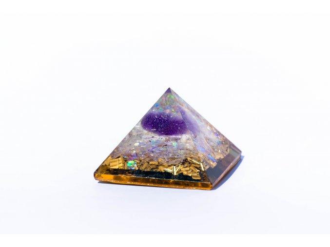 Orgonit pyramida ametyst 40x40mm