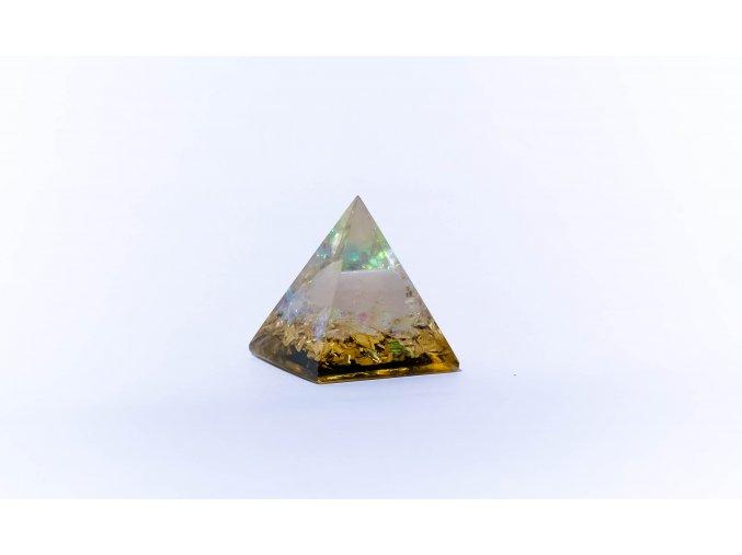 Orgonit pyramida růženín 40x40mm