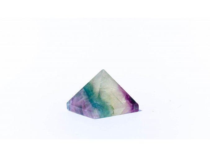 Pyramida fluorit  22x30mm
