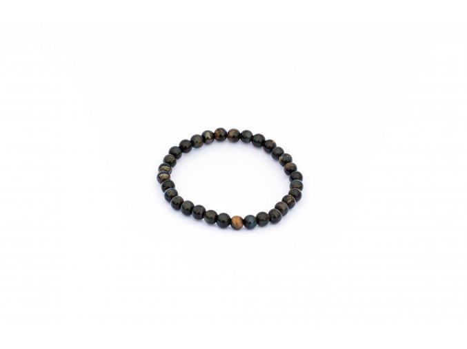 Náramek pro muže - onyx černý 8mm