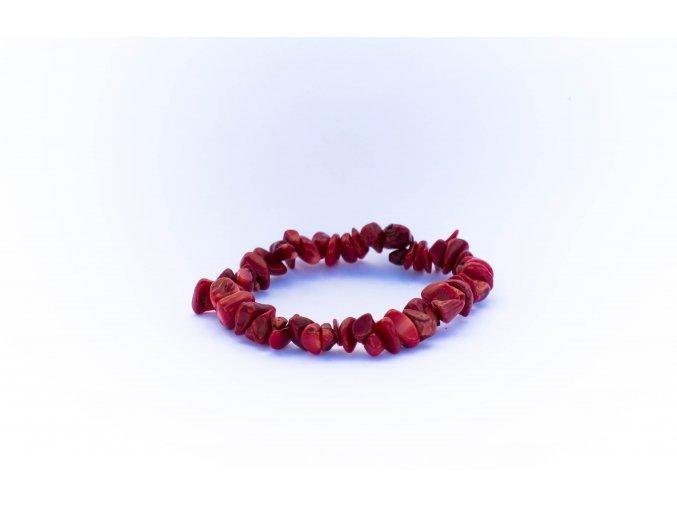 Koral červený náramek sekaný