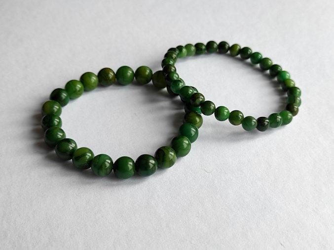 Náramek zelený nefrit