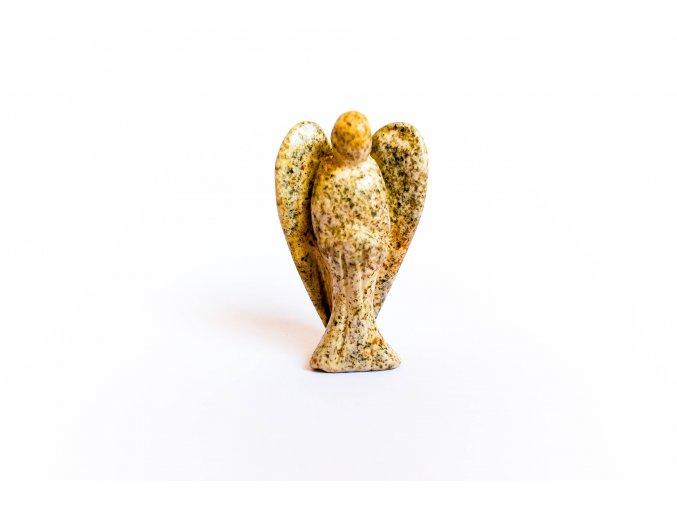 Jaspis obrazkový léčivý anděl - malý 3,5 cm/ velký 5cm