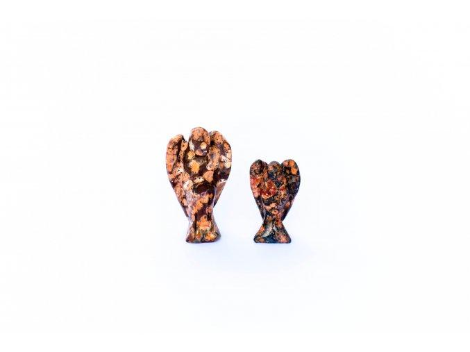 Jaspis leopardí léčivý anděl - malý 3,5 cm/ velký 5cm