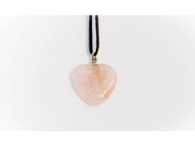 Přívěsek srdce Růženín 20mm