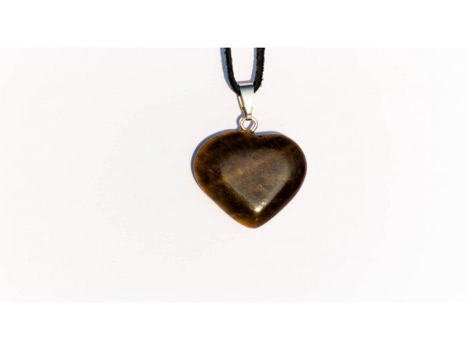 Přívesek srdce Jaspis hnědý 20mm
