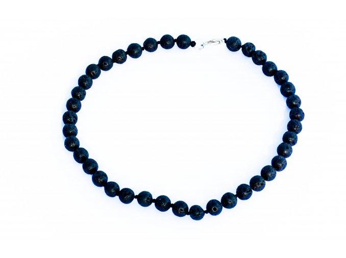 Lávový kámen náhrdelník 10mm