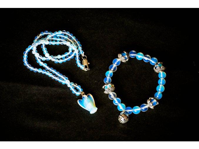 Opalit sada - náramek, náhrdelník, přívěsek anděl